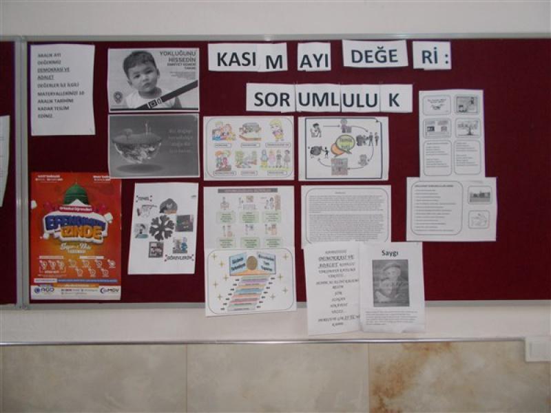Degerler Egitimi Sorumluluk Pano Calismamiz 100 Yil Mehmetcik